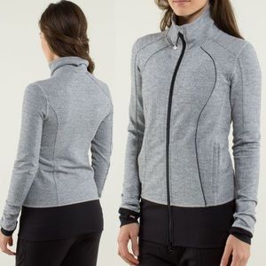 Lululemon Nice Asana Jacket Herringbone